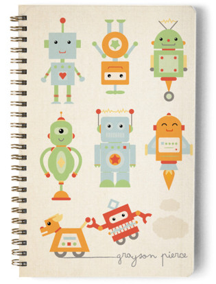 Robots! Day Planner, Notebook, or Address Book