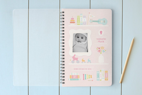 Bookends for Baby Girl Notebooks