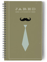 Mr. Moustache and Tie Notebooks