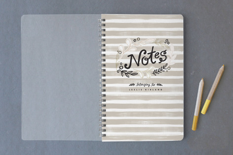 Grey Stripe Notes Notebooks