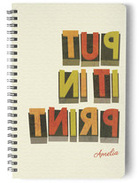 Wood Type Notebooks