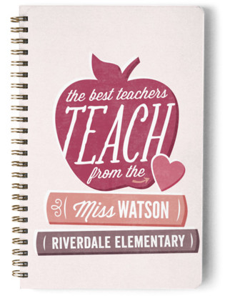 Teach From The Heart Day Planner, Notebook, or Address Book