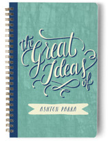 Hand Lettered Great Ideas Notebooks