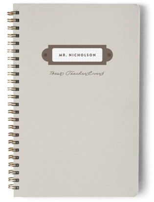 Nameplate Day Planner, Notebook, or Address Book