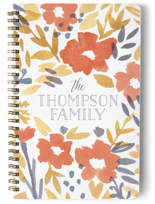 Family Floral Day Planner, Notebook, or Address Book