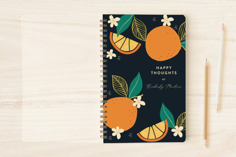 Abstract Bold Orange Notebooks
