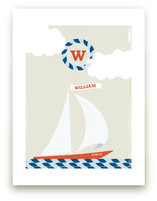 Set Sail Nursery Custom Art Print