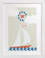 Set Sail Nursery Custom Art Print