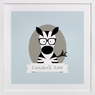 Zander's Zoo Nursery Custom Art Print