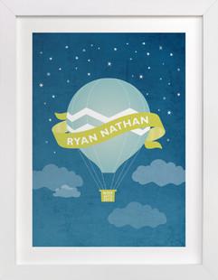 Night Ride Nursery Custom Art Print