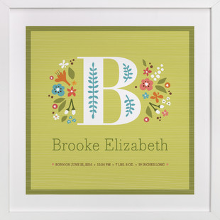 Storybook Initial Nursery Custom Art Print