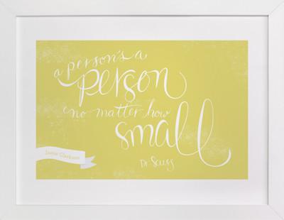 No Matter How Small Nursery Custom Art Print