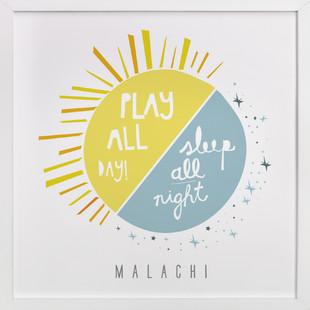 Play All Day, Sleep All Night Nursery Custom Art Print
