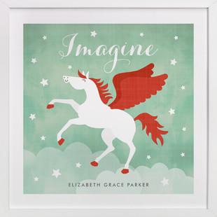 Pegasus Nursery Custom Art Print