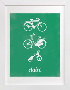 Bike Love Nursery Custom Art Print