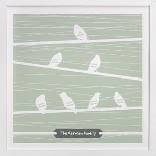 Birds of a Feather Flock Together Nursery Custom Art Print