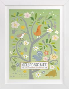 Celebrate Life Nursery Custom Art Print