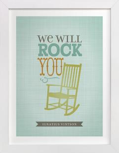 We will Rock You Nursery Custom Art Print