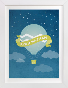 Night Ride Nursery Custom Art Print