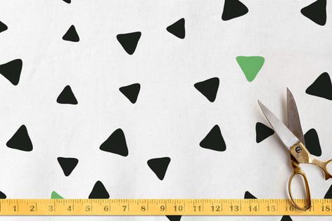 Festive Triangles Fabric