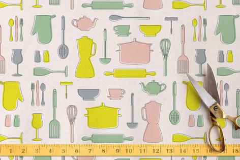 Retro Kitchen Fabric