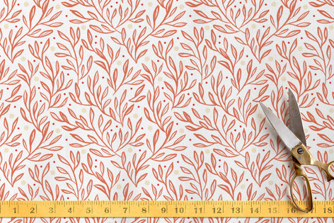 Sweet Leaves and Berries Fabric