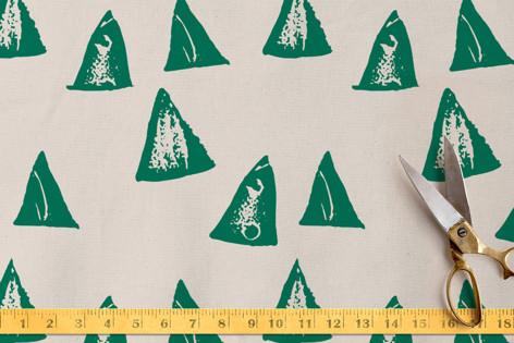rustic triangles Fabric