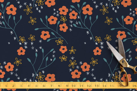 night garden Fabric