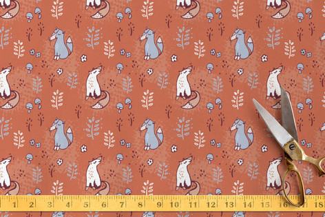 Woodland Foxes Fabric