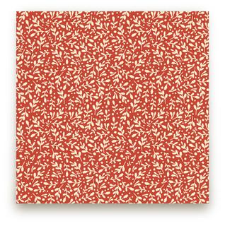 Winter Leaves & Berries Fabric