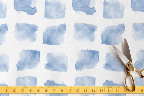 Plaid Water Fabric