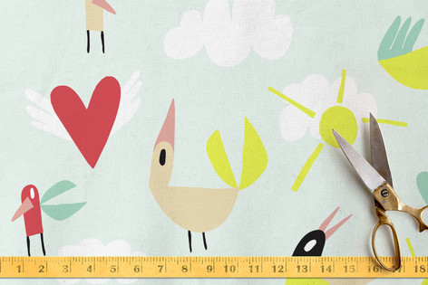 Feather Party. Fabric