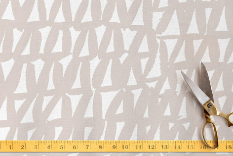 Painted Triangles Fabric