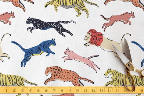 Big Cats Fabric
