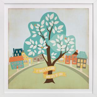 More Than A Village Nursery Art Print