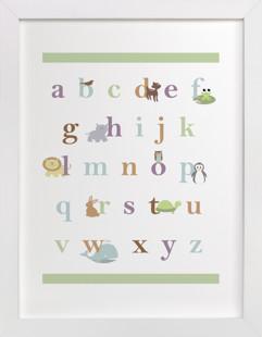 Baby Animal Alphabet Nursery Art Print