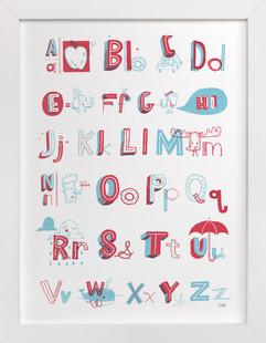 E is for Elephant Nursery Art Print