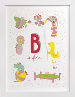 B is For Nursery Art Print