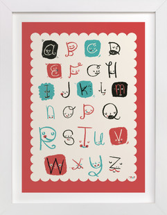 ABC Friends Nursery Art Print