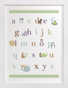 Baby Animal Alphabet Nursery Art Print