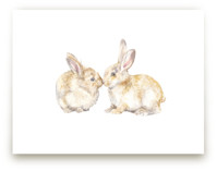 Snuggling Bunnies by Lauren Rogoff