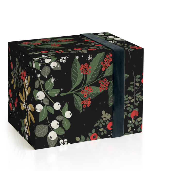 Berry Fields Foil-Pressed Wrapping Paper