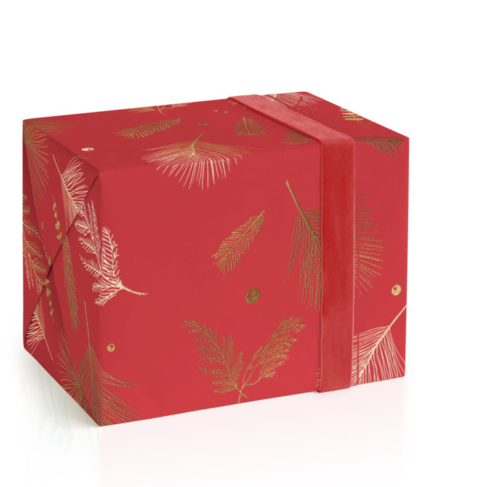 Floating Greenery Foil-Pressed Wrapping Paper