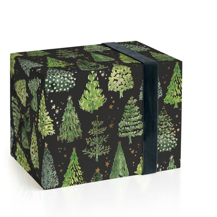 Decorated Christmas trees Foil-Pressed Wrapping Paper