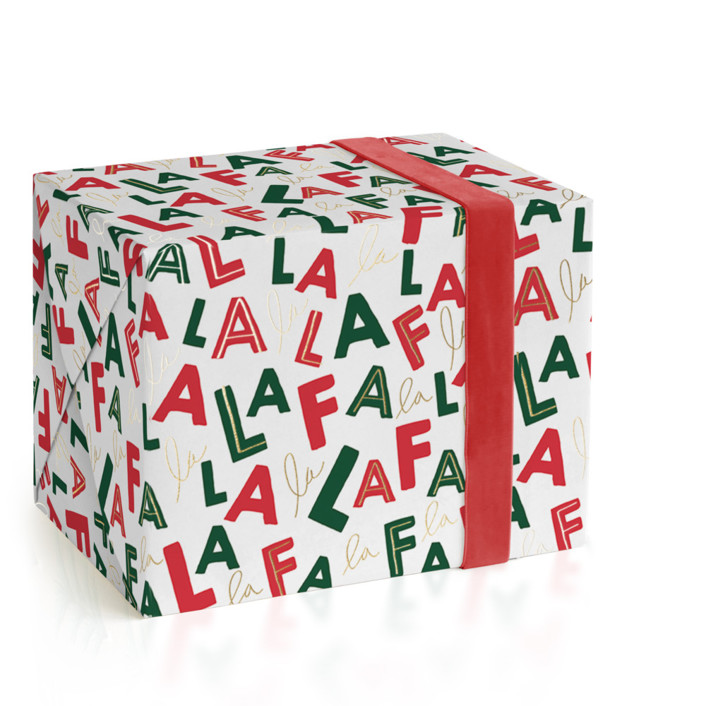 Falala Foil-Pressed Wrapping Paper