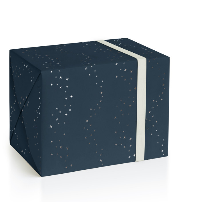 Shimmer stars Foil-Pressed Wrapping Paper