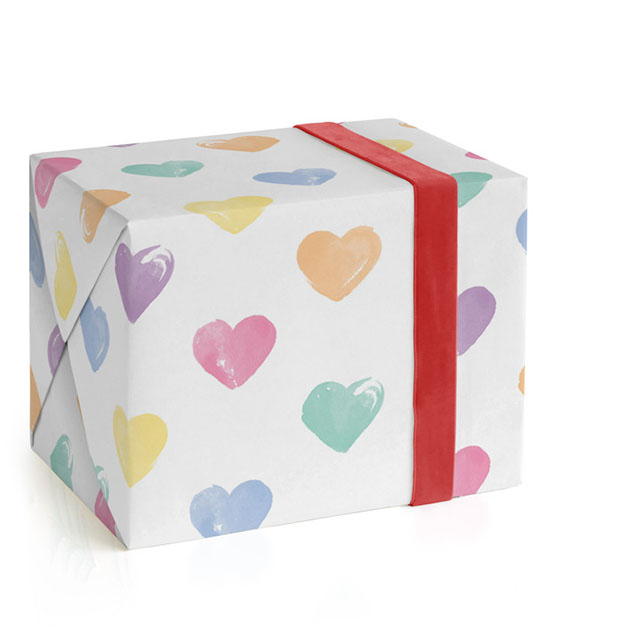Heartfully Painted Wrapping Paper