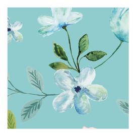 Elegant Aqua Floral