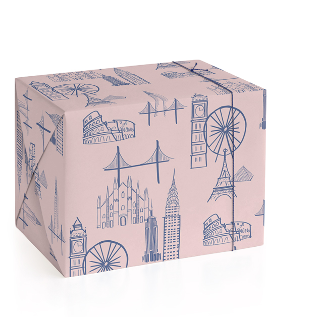 Big Cities Wrapping Paper