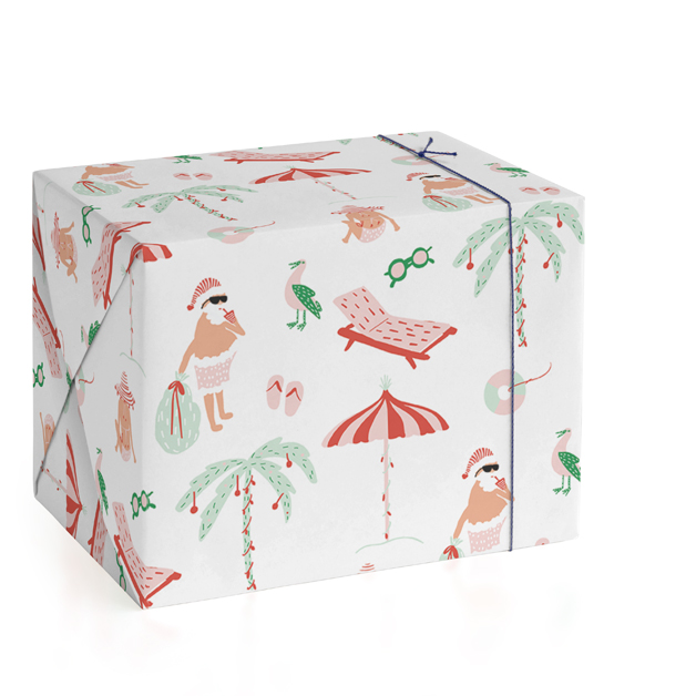 Warm Weather Holiday Wrapping Paper